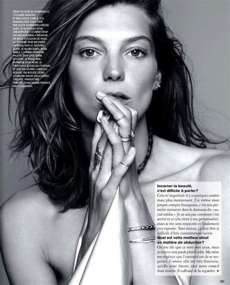 does daria werbowy has long layers in her haircut mid length do daria werbowy marie claire france november