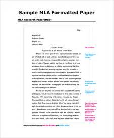 Mla Research Paper Outline by Sle Mla Outline 6 Documents In Pdf Word