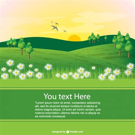 9 page card template landscape landscape template vector free