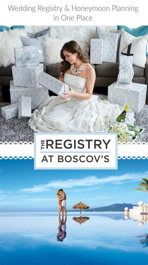 Wedding Registry and Honeymoon Planning at Boscov?sa