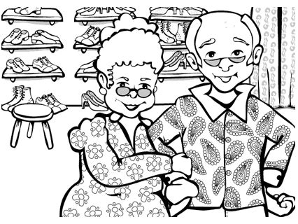 coloring page elves and the shoemaker the elves and the shoemaker coloring pages elves free