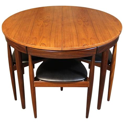 teak dining room furniture hans teak roundette dining room set for frem rojle modern at 1stdibs