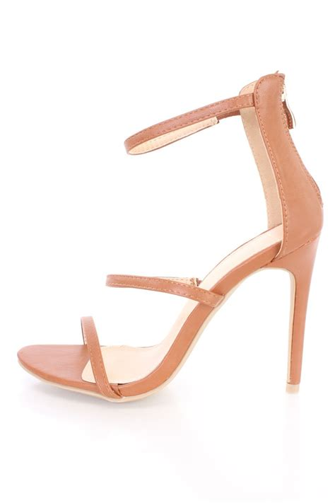 strappy sandal heels strappy single sole sandal heels faux leather