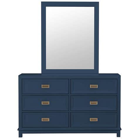 Blue Dressers by City Furniture Dk Blue Dresser Mirror