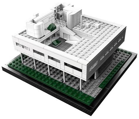 design milk lego table lego architecture villa savoye design milk