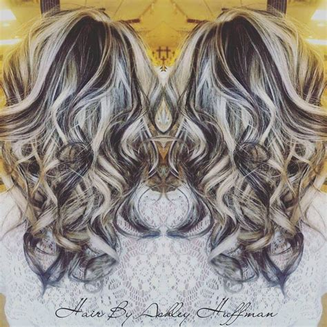 lowlight for platinum hair platinum blonde highlights with dark chocolate brown low