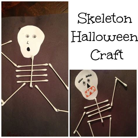 skeleton crafts ideas for school paper plate