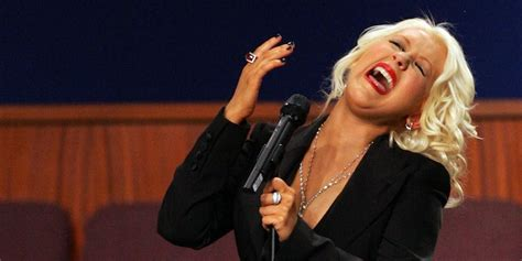 bad church singer anorak news christina aguilera melts at etta james