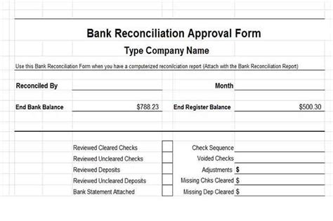 credit card reconciliation template and banking controls vitalics