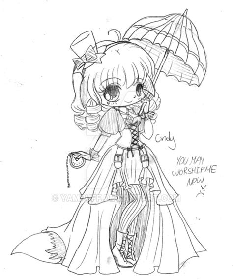 fox girl coloring pages sketch coloring page cindy steunk sketch by yampuff on deviantart