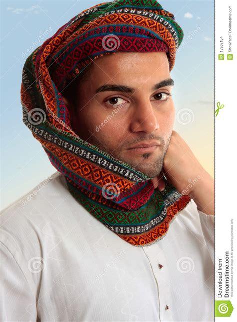 arab headdress pattern arab man in traditional turban keffiyeh stock images