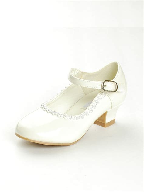 flower shoes ivory ivory rhinestone detailed patent flower shoes