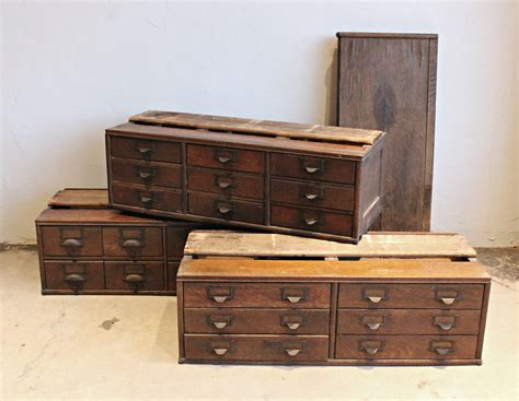 antique wooden 23 drawer storage cabinet