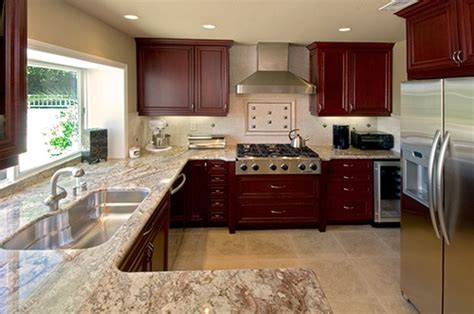 what color granite goes with cherry cabinets best backsplash colour for stained wood cabinets maria