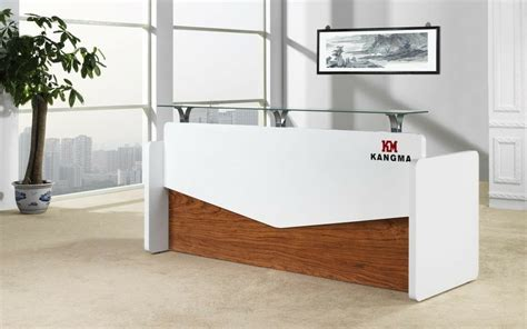 Fancy Reception Desk China Modern Turkey White Color Rosewood Wood Veneer Office Reception Desk China Office