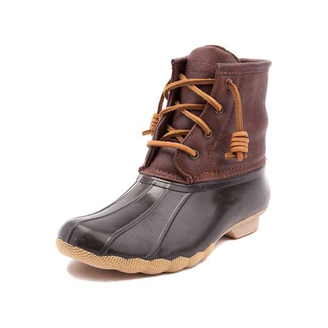 sperry boots youthtween sperry top sider saltwater boot brown 1583510
