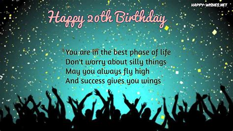 Happy 20 Birthday Wishes Happy 20th Anniversary Wishes Quotes And Images Happy Wishes