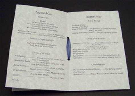 as promised wedding programs for catholic ceremony o