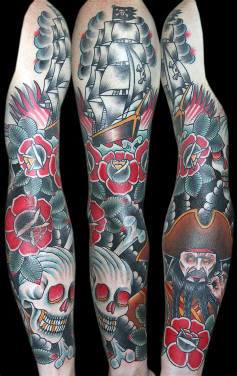 pirate tattoo sleeve designs best traditional tattoos designs