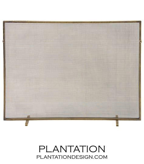 fireplace screen brass plantation