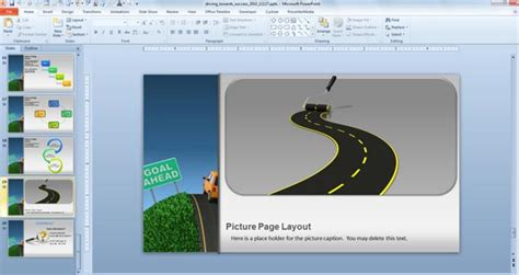 Traffic Road Templates For Powerpoint Presentations Powerpoint Presentation Powerpoint Road Template