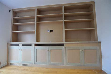 bepoke bookcase and media cabinets bristol built