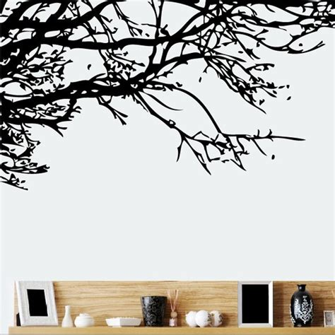temporary wall stickers tree branch diy vinyl wall stickers mural decal home decor removable ebay