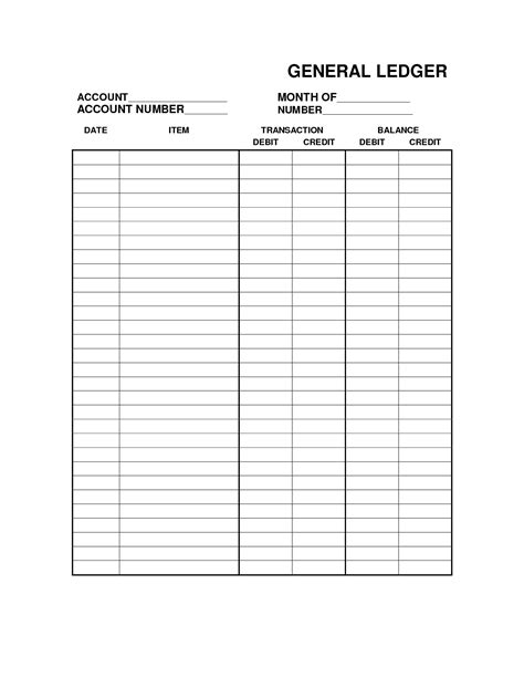 account book template printable free printable bookkeeping sheets general ledger free