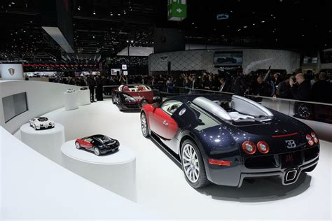 and last bugatti veyron built the stage in geneva