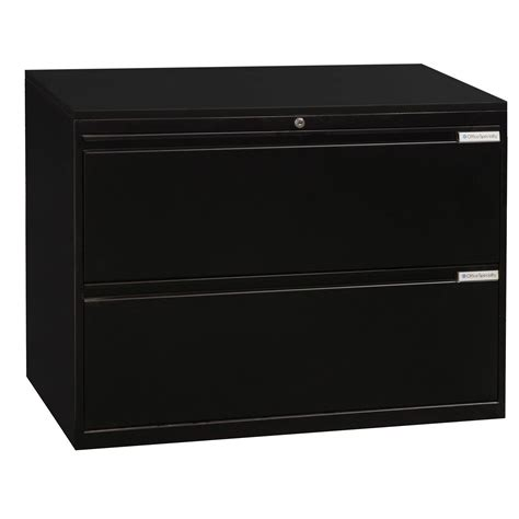 2 vertical file black office specialty used 2 36 inch lateral file black