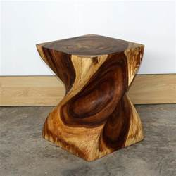 Decorative Tables Big Twist Solid Wood Table Solid Wood Table Wooden Stand