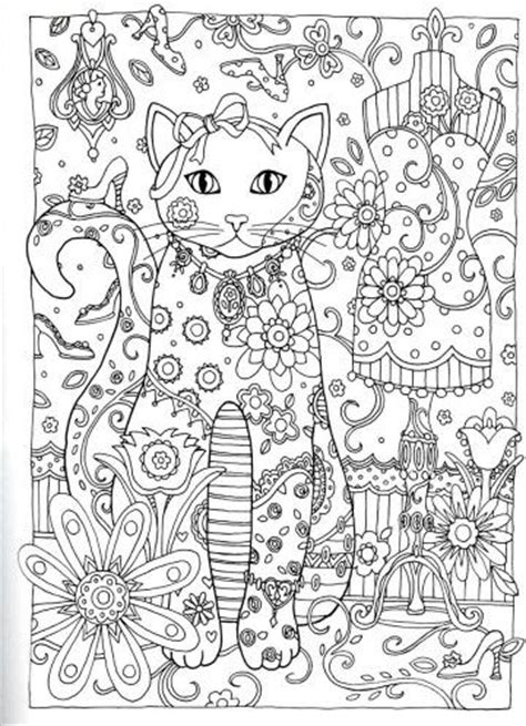 advanced cat coloring pages creative haven creative cats dover publications abstract