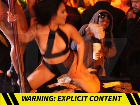 lil wayne gives strippers healthy tip tmz