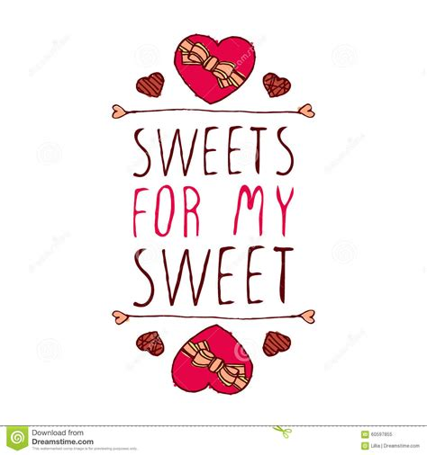 For My for my sweet stock vector illustration of