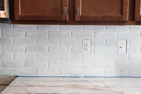 faux brick backsplash for color and character great home