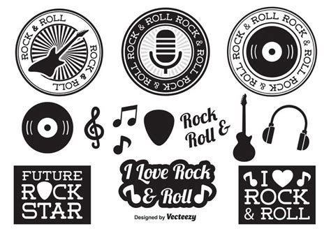 imagenes vectores rock free vector rock and roll elements 34506 my graphic hunt