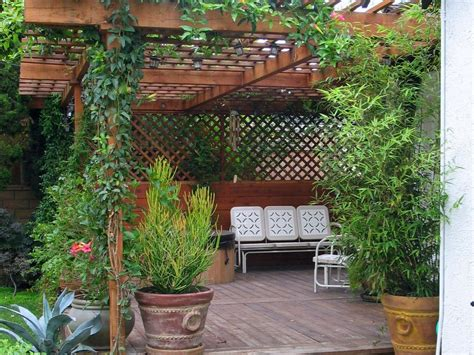 patio pergola how to build a wood pergola hgtv