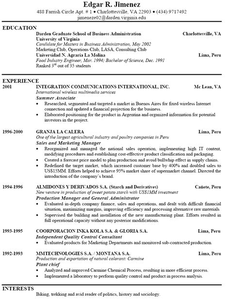 here s an exle of a strong resume search
