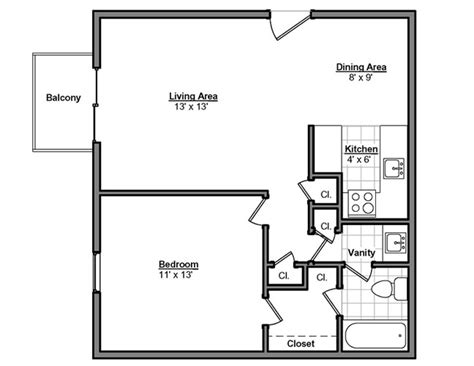 700 square feet apartment floor plan designed this 700 square foot apartment for a young couple