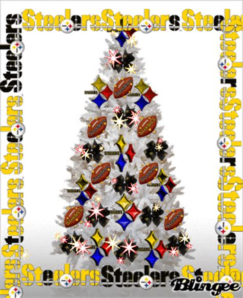 images of a steelers christmas tree pittsburgh steelers tree picture 102404643 blingee