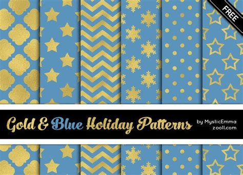 fontspace pattern goodies gold and blue holiday patterns