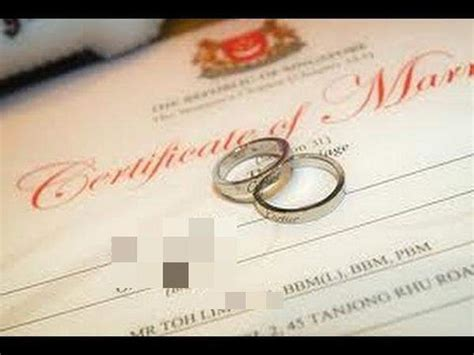 Marriage Records Singapore Rom To Increase For Marriage Registration Fees By Nearly 50