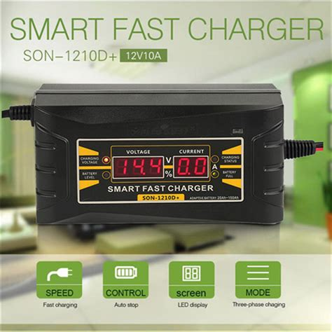Smart Fast Charger 12v 10a Baru newest automatic smart 12v 10a lead acid gel car