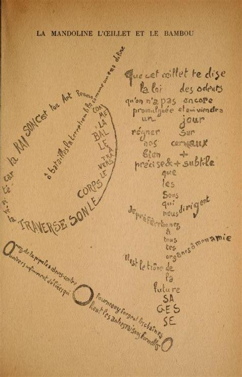 libro des troubadours apollinaire mira una colecci 243 n de los caligramas de apollinaire creators