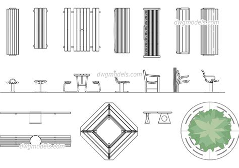bench cad block benches dwg free cad blocks download