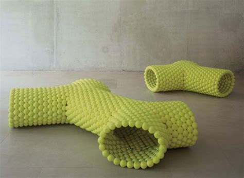 tennis benches tennis ball benches by remy veenhuizen tennis ball benches reclaimed design