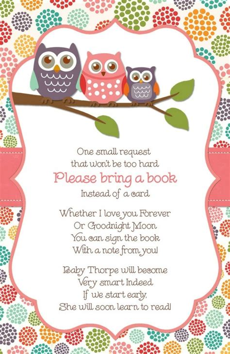 bring a book instead of a card babyshower free template baby shower giving a book instead of a card