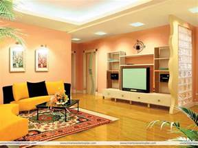 Indian drawing room with pop colors interior decorations