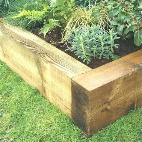 Timber Garden Edging Ideas Wooden Garden Borders Wood Landscape Borders Brilliant