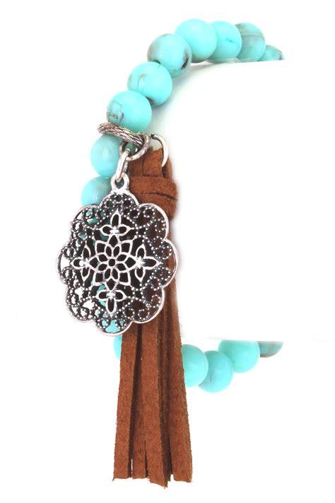beaded tassel bracelet beaded tassel floral charm bracelet bracelets